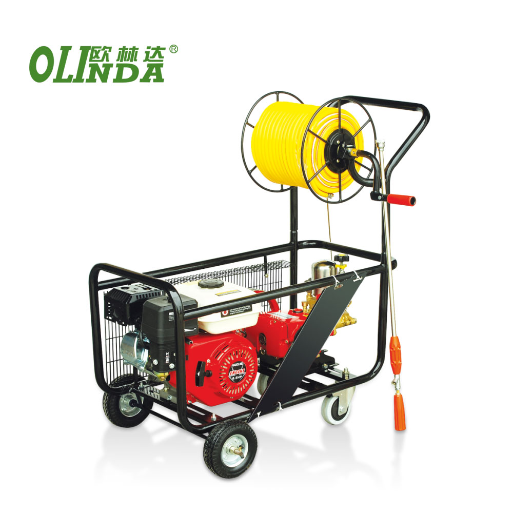 Harga Terbaik 5.5hp Mist Blower Air Blast Troli Traktor Plunger Htp Selang Power Sprayer Pompa