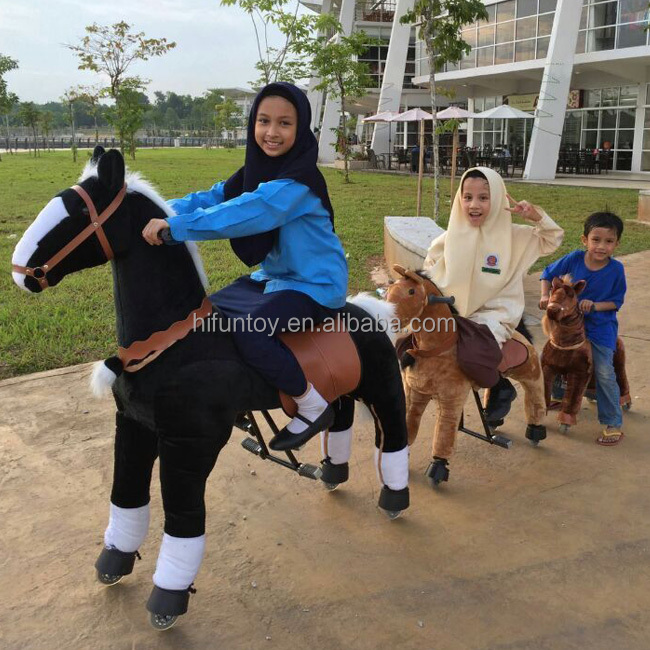 Funtoys CE mechanical running horse for children
