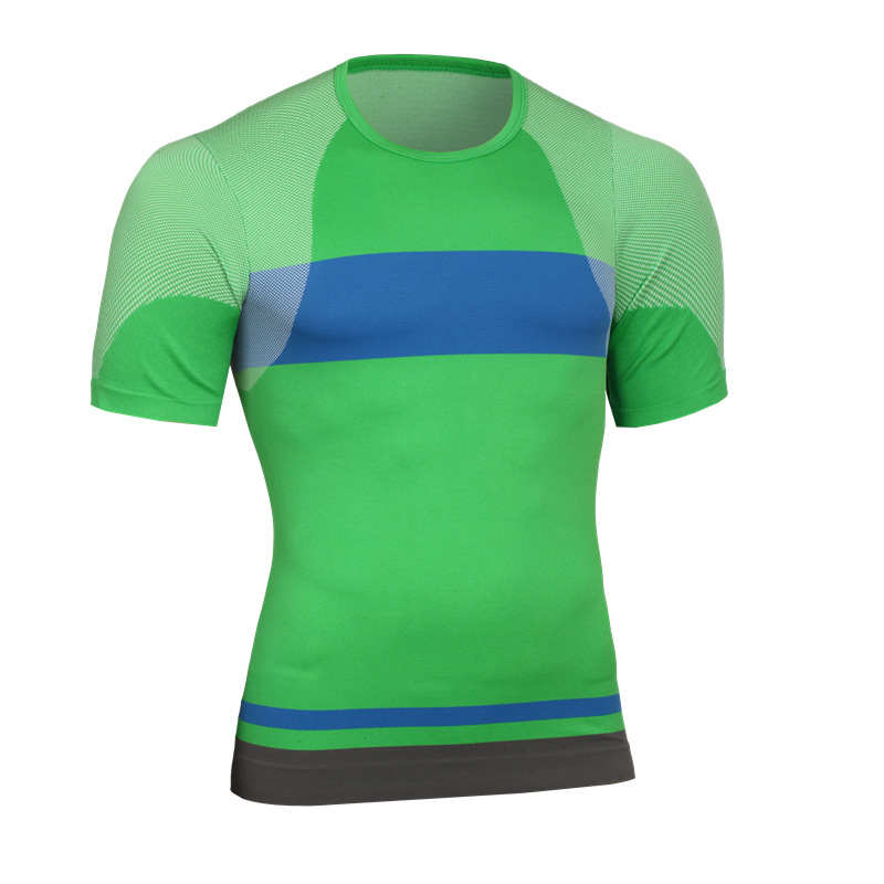 New Arrival Men Compression Short Sleeves T-shirt Quick Dry Sports Wear Ultra Thin For Exercise 5