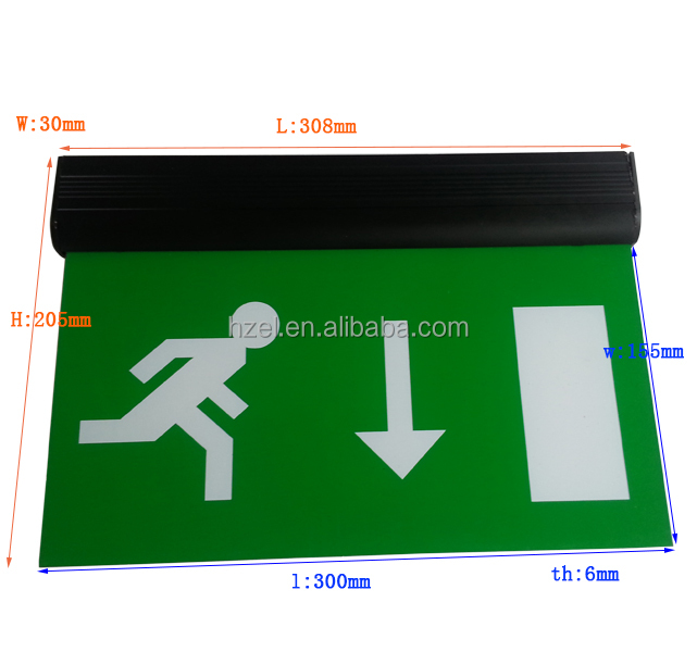 Double sided LED Escape Acrylic Hanging Emergency Exit Sign