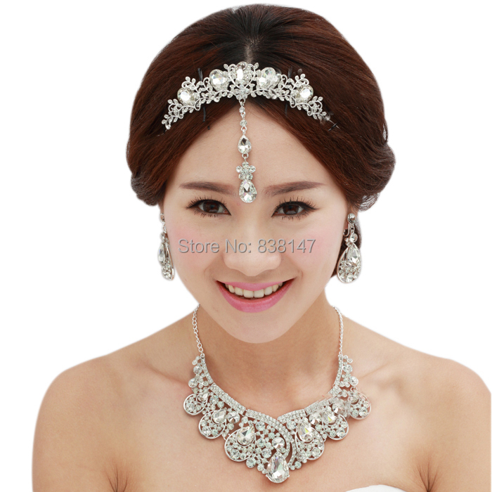 2015 Gorgeous crystal wedding jewelry sets rhinestone wedding sets accessories bride jewelry set wholesale