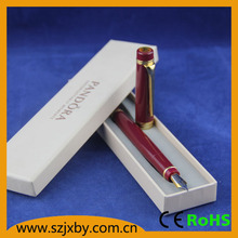 SHIBELL High quality red MB style metallic fountain pen with logo