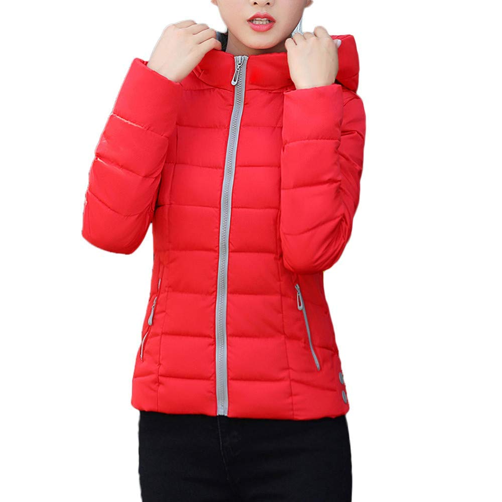 Amiley Parkas Women Winter,Women's Fashion Winter Silm Parka Jacket Hooded Warm Stand Collar Down Coat