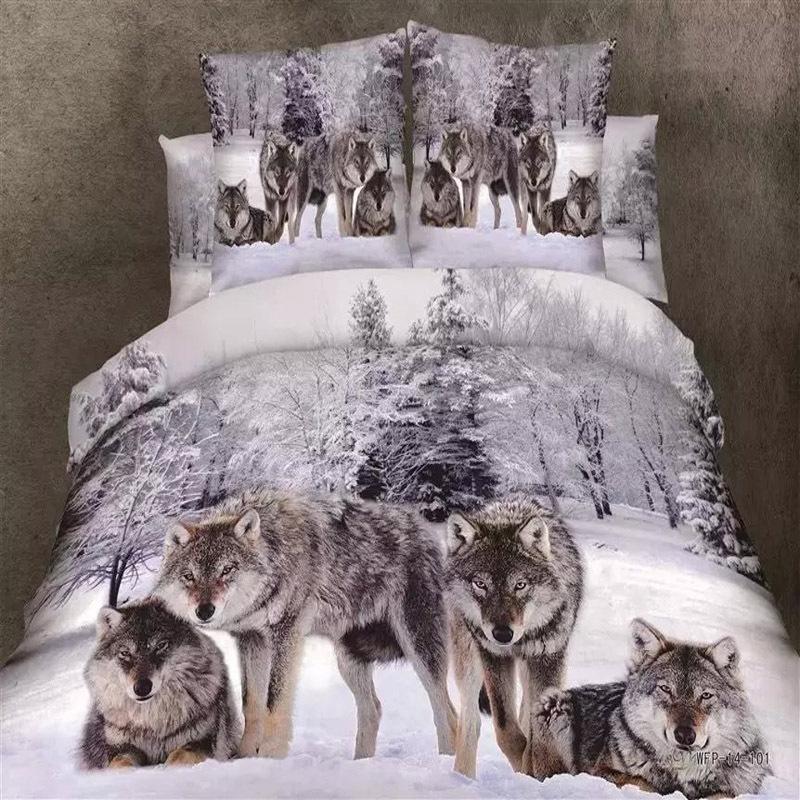 online kaufen gro handel wolf bettw sche sets k nigin aus china wolf bettw sche sets k nigin. Black Bedroom Furniture Sets. Home Design Ideas