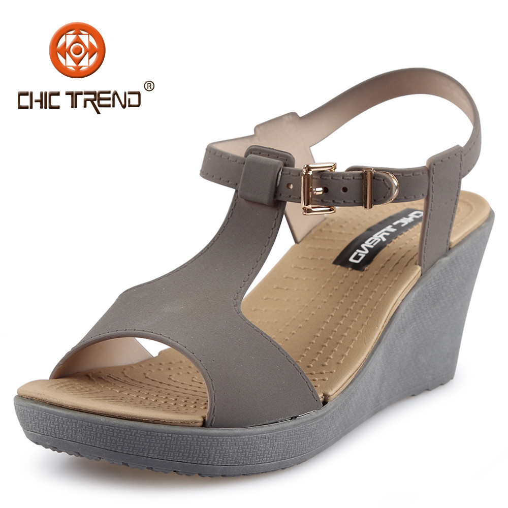 2015 New Design Woman Wedge Plastic Sandals Shoes Lady Pvc Jelly ...