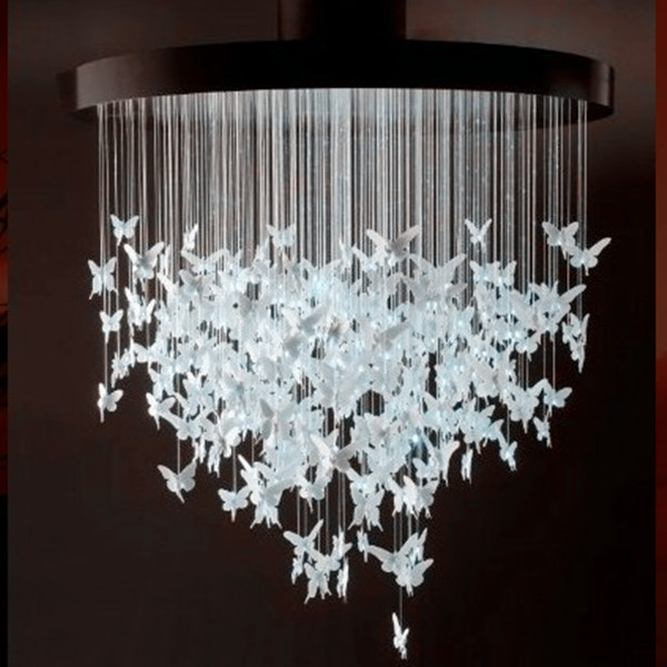 led light chandelier for the living room fiber ceiling light, chandelier light, chandelier made of 7colors chandelier