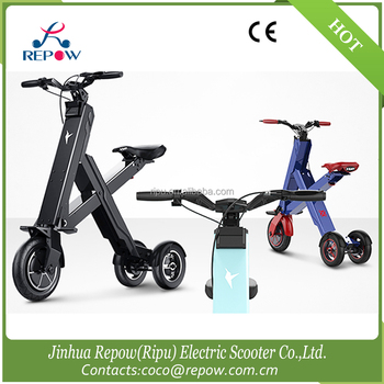 Three wheel folding electric mobility scooter light weight for 3 wheel motor scooters for adults