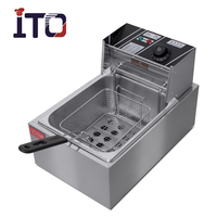 CI-81 Mini Manual Fryer for French Fries Potato Chips