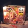 3D Wooden Doll House Toy Funny Assembling DIY Miniature Model Kit With Furnitures Children Adult Handmade