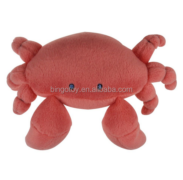 high quality fabric crab bolster plush toy made in China