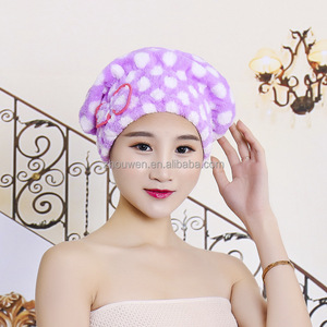 wholesale personalized christmas coral fleece terry shower cap