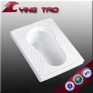 Indian squat toilet with flush squatting pan sanitary ware WC ceramic pans