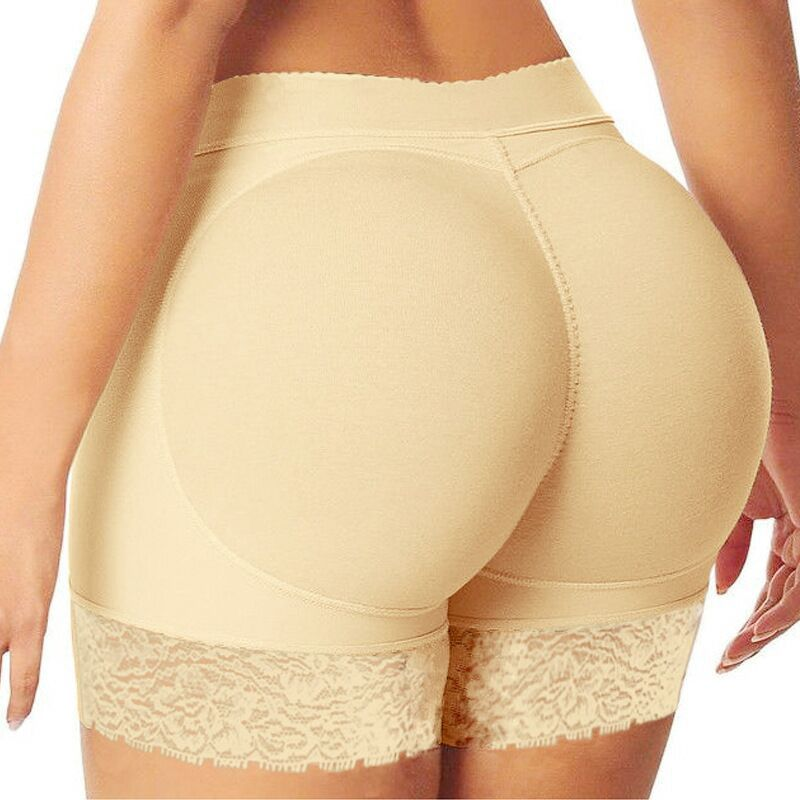 Womens Seamless Sexy Butt Lifter Padded Lace Panty Enhancer Underwear Girls lace Booty Booster Briefs