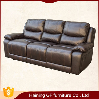 Best Price New Germany Style Reclining Sectional Pure Leather Sofa Set