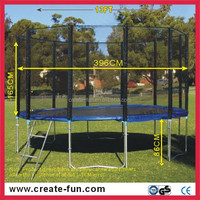 13FT rebounder trampoline with basketball hoops for sale