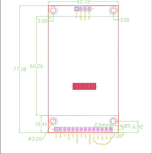 2 8 inch TFT SPI color display with touch panel LCD module