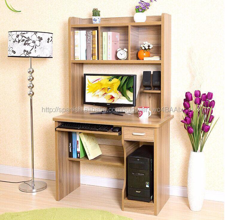 Ahorrar espacio ordenador de casa escritorio con - Estanterias para escritorios ...