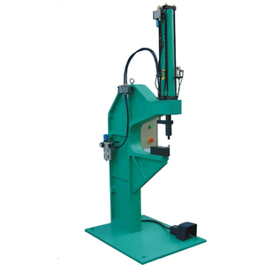 C-frame bench type pneumatic clinch machine