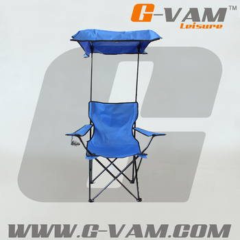 Outdoor Canopy Folding Chair With Sunshade