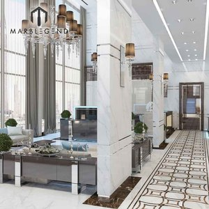 prefab modern deluxe Hallway and living room italian marble flooring design for sale