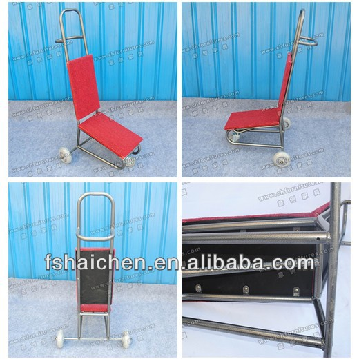 XYM86 Wholesale metal banquet chair trolley