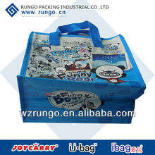 Small promotional Laminated Charming PP Non Woven Bag With Zipper