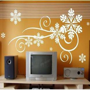 Wall stickers flower fashion the winter tv background wall living room decoration