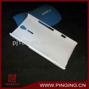 Plastic white cell phone case for Sony Xperia S LT26I