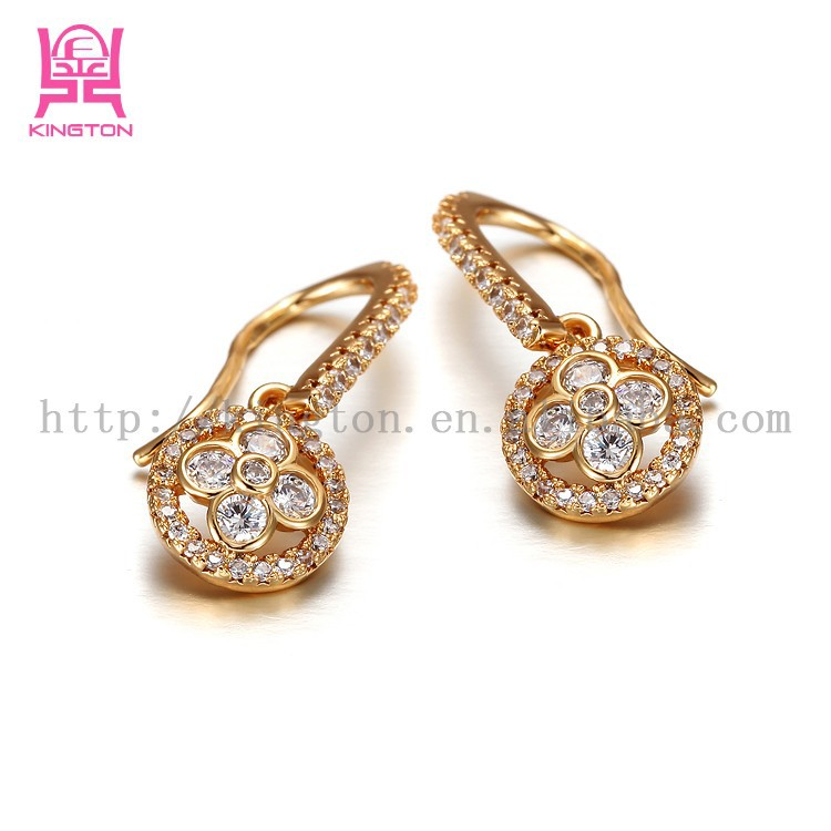 sterling accent plated plumeria gold cz double silver pave rose stud shimmering beautiful earrings