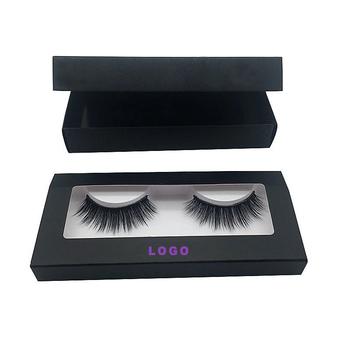 e671b864e83 OEM made customized logo 3D mink lashes packaging box False Eyelash Box  With Clear Window