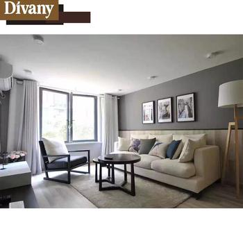 Living Room Leather Sofa Modern