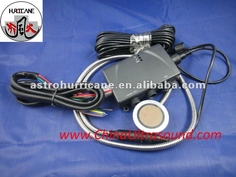 fuel/water tank level controller system with ultrasonic sensor