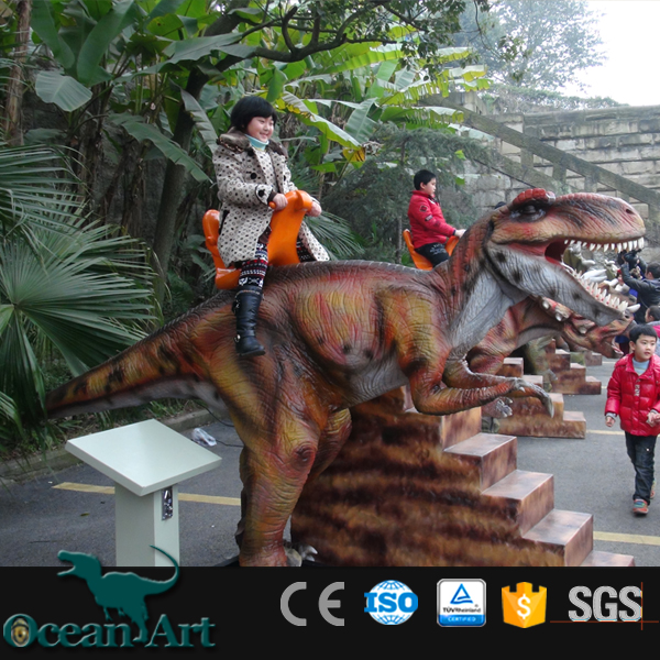 OAR6001 Dinny The Dinosaur Rider Riding A Dinosaur