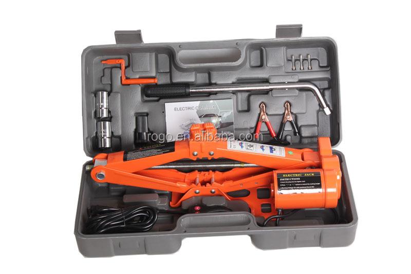 12 volts portable changement de pneu outils lectrique ciseaux de levage de voiture jack pour 3. Black Bedroom Furniture Sets. Home Design Ideas