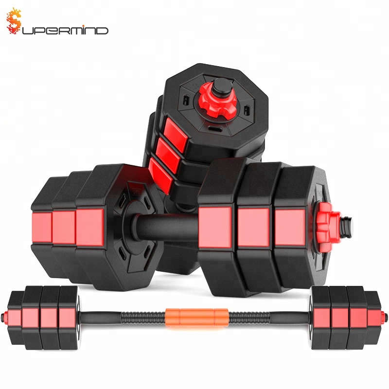 Disesuaikan Otomatis Dumbel Adjustable Dumbbell Set With Stand