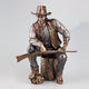 Hot selling resin cowboy statue