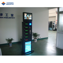 Quick Charge Muntautomaat digital signage mobilephone laadstation locker APC-06A