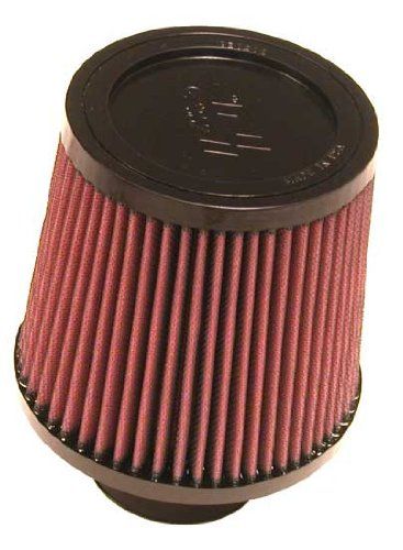 K&N RU-4960 Universal Clamp-On Air Filter: Round Tapered; 2.75 in (70 mm) Flange ID; 5.5 in (140 mm) Height; 6 in (152 mm) Base; 5 in (127 mm) Top