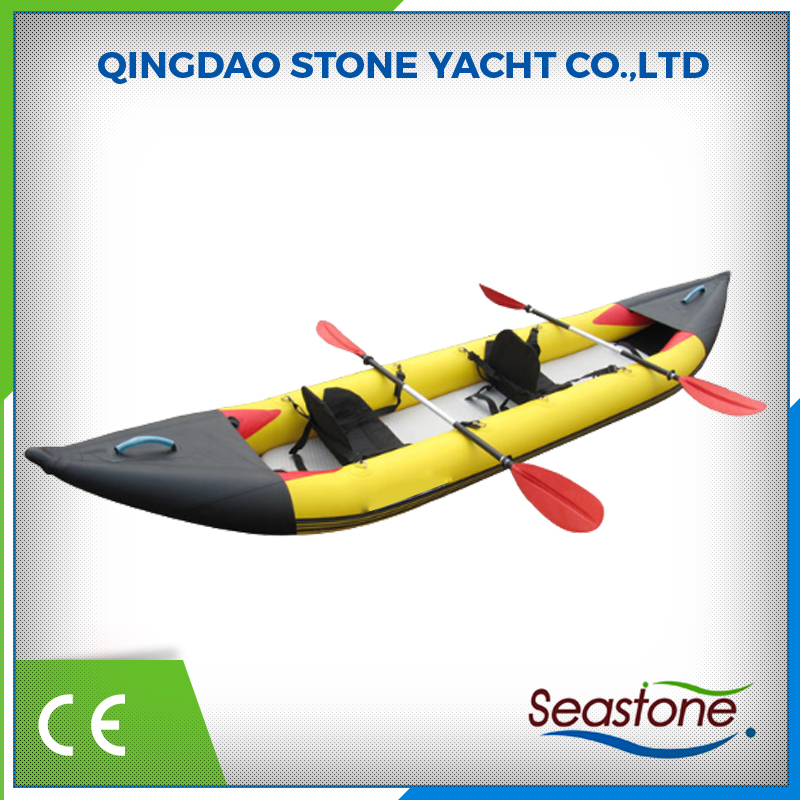my test Professional Cheap Sea Hypalon Inflatable Kayak for Sale in China