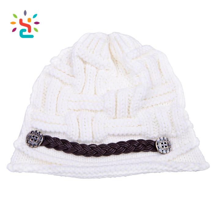 Mujeres Bobble Crochet Cable Gorro Sombrero De Invierno Burbuja ...