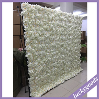 Wedding favor cream white backdrop artificial decorative wall flower wholesale