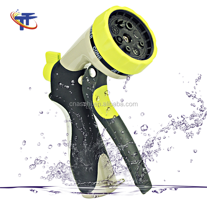 Garden Hose Nozzle Spray Nozzle, Metal Water Nozzle Heavy Duty 8 Adjustable Watering Patterns