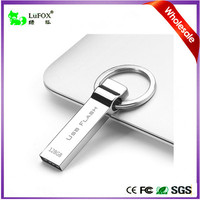 LuFOX Anti Copy Metal Waterproof 8GB USB Flash Drive, High Speed Flash Chips Memory Stick with Key