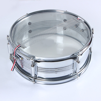 GE120 Surface plating Chrome china sliver snare drum