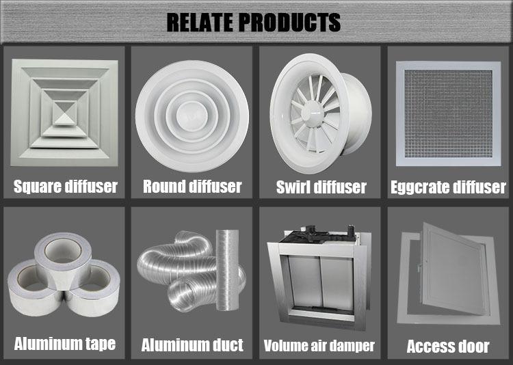 Round Ceiling Air Diffuser Ventilation Aluminum Hvac Air