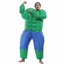 Inflatable Fancy Costumes Adult Halloween hulk costume