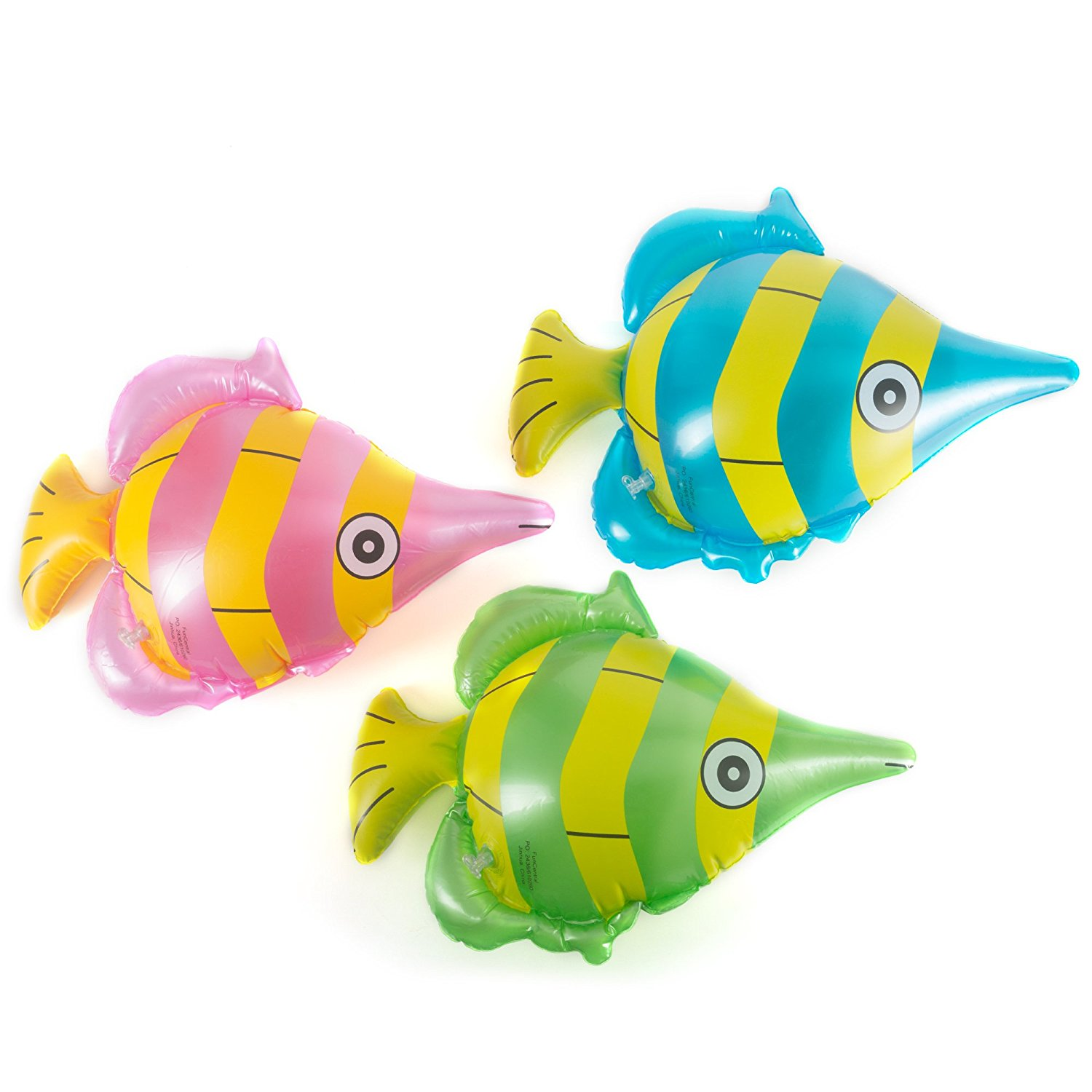Fun Central (AZ901) 12pack 14inch Inflatable Tropical Fish Toy, Fun Toys, Inflatable Toys, Toy Inflatable, Inflatable Beach Toys, Toy Fish - Assorted