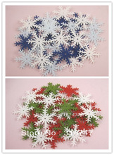 48pcs/144pcs hang up Christmas assorted snowflake 3cm non-woven motif felt 14010322