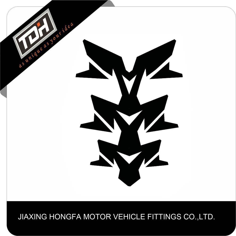 Cina Pemasok Jiaxing Hongfa Hot Hitam Motorbike Feul Stiker Keren