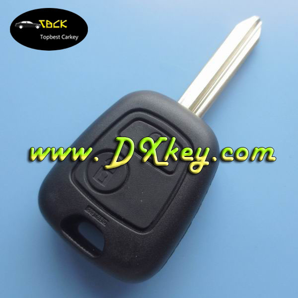 Best price 2 buttons remote key for Citroen Picasso key citroen c4 remote key 433mhz